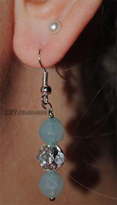 Easy Peasy Earring Tutorial DIY Anleitung für schicke Perlen Ohrringe http://diy.cerezah.de