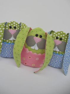 PDF Pattern and Instructions for Little Bunny Boo Boo, Rice Bag, Tooth Pillow, Easter Plushie. $4.00, via Etsy.