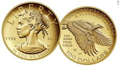 The 24K gold $100 coin itself is stunning, pure gold, Lady Liberty bears clear African American features from her full lips to her locs.