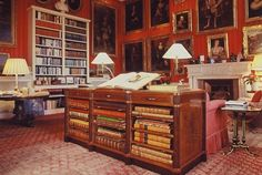 Petworth House,  the  Red Library