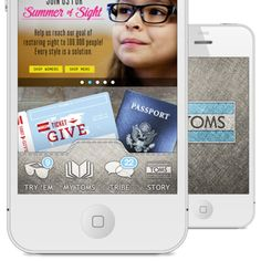 TOMS iOS design by Justin Lockwood. - Scoutzie