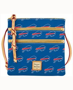 new product f9cc4 5da78 Dooney   Bourke Buffalo Bills Triple-Zip Crossbody Bag Sports Women, Sports  Fan Shop