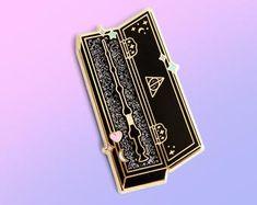 Golden Key, Pin Card, Harry Potter Pin, Hogwarts, Addiction, Joy, Tags, Enamel, Prints