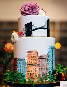 Indescribable Your Wedding Cakes Ideas. Exhilarating Your Wedding Cakes Ideas. Unique Cakes, Creative Cakes, Cupcakes, Cupcake Cakes, Wedding Cake Decorations, Wedding Cakes, Beautiful Cakes, Amazing Cakes, City Cake