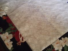 Corner of poinsettia table runner
