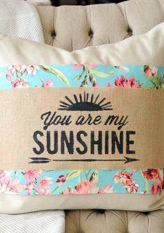 Add some summer to your living room with these DIY sweet summer decorative pillows.