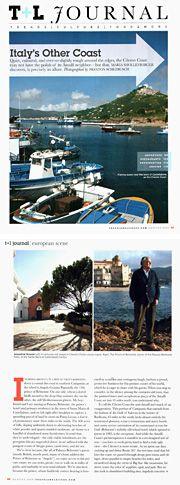 Palazzo Belmonte - Rassegna stampa - Italy's Other Coast - Hotel 4 stelle a Santa Maria di Castellabate