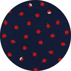 "Cotton and Steel, S.S. Bluebird, Apples Navy  Fabric is sold by the 1/2 Yard. For example, if you would like to purchase 1 Yard, enter 2 in the Qty. box at Checkout. Yardage is cut in one continuous piece when possible.  Examples:  1/2 yard = 1 1 yard = 2 1 1/2 yards = 3 2 yards = 4   1/2 Yard Measures ~18"" x 44/45""  Fiber Content: 100%  Cotton  Hover over image for a larger, better view.   Care Instructions: To increase the longevity of your fabrics, hand-wash,  or wash on a gentle cycle in…"