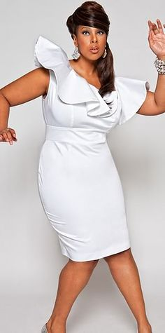 cdf045b1a81 Plus Model Mia Amber Makes A Statement In New Monif C Campaign white jumpsuit  plus size