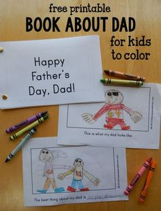 Looking for a homemade Father's day gift idea?  This book about Dad was a big hit at our house!: