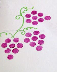 eraser stamp Bundle Pencil Eraser stamping - Stamp flowers and Grape bunches Bible Story Crafts, Book Crafts, Letter Crafts, Letter Art, Easy Crafts, Crafts For Kids, Preschool Projects, Diy Projects, Vine And Branches