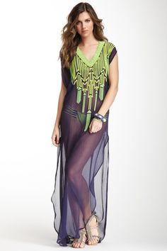Someone tell me I don't need this. DYING over this Mara Hoffman Long Bead Dashiki on @HauteLook!