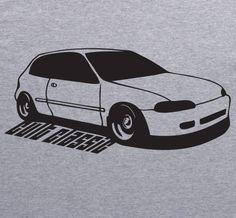 El clásico de culto camiseta Honda CIVIC 5ta Gen gris vtec