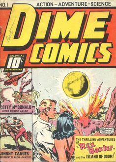 Couverture de Dime Comics, no 1 (février 1942). Artiste : Edmond Good