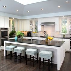 Big Kitchen · Blue Grey Walls · Canter Design, Pictures, Remodel, Decor and Ideas - page 16