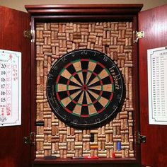 wine cork dart board frame