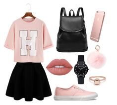 """""""Rose Gold style"""" by weirdobby on Polyvore featuring moda, Vans, RAJ e Lime Crime"""
