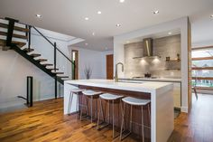 The open concept kitchen & eating area feature at 4067 w 33rd ave.