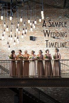 Starting to wonder how everything's going to come together on your big day? Check out this sample wedding timeline!