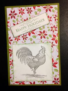Rooster Christmas card
