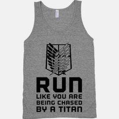 attack on titan apparel Running Shirt