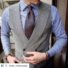 """tommiler: """"What a combo @miler_menswear shirt and tie combined with…"""