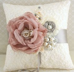 Ring+Bearer+Pillow+Bridal+Pillow+Wedding+Pillow+in+by+SolBijou,+$125.00