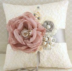 Ring+Bearer+Pillow+Bridal+Pillow+Wedding+Pillow+in+by+SolBijou,+$125.00