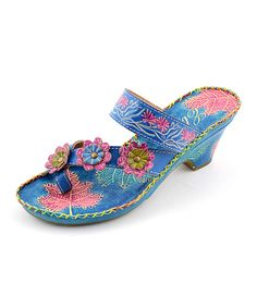 Blue & Pink Havanna Leather Sandal - Only a Type 1 could wear these and still look awesome!