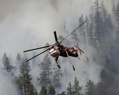CH-54A Sikorsky Helicopter on the 2011 Wallow Fire. Photo taken by Jayson Coil (www.jaysoncoil.com) with the Southwest Area Incident Management Team. Credit: US Forest Service, Apache-Sitgreaves National Forest