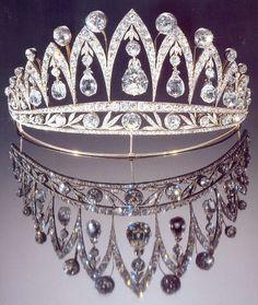 Queen Marie-José Fabergé diamond tiara http://mariannalondon.blogspot.it/2013/07/belgian-tiaras.html