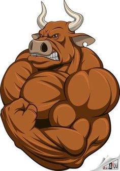 Buy Strong Bull by on GraphicRiver. Vector illustration of a strong bull with big biceps Cartoon Kunst, Cartoon Drawings, Cartoon Art, Art Drawings, Strongest Animal, Bullen, Illustration, Bear Art, The Villain