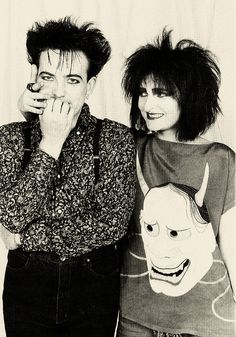 Robert Smith and Siouxsie (I have always loved this picture).