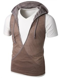 Doublju Mens Check Patch Vest with Hoodie   BROWN (US-M) Doublju,http://www.amazon.com/dp/B0054N0TJK/ref=cm_sw_r_pi_dp_oFXytb06V45T13YS