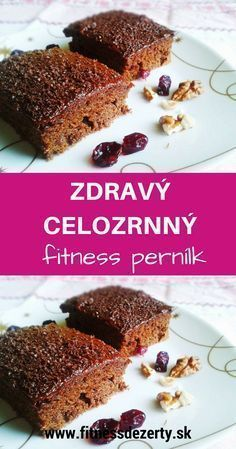 Healthy Desserts, Dessert Recipes, Healthy Recipes, Czech Recipes, Baking Flour, Sweet Recipes, Bakery, Food And Drink, Healthy Eating