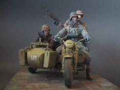 Warfare, Ww2, Samurai, Guns, Miniatures, Motorcycle, Bike, German, Military