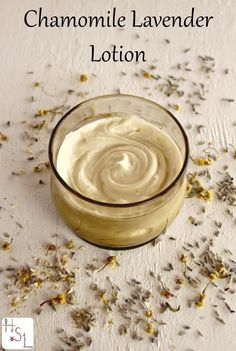 Whip up this healing and comforting Chamomile Lavender Lotion to soothe all that dry skin.