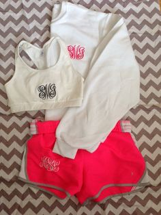 I'd OBVIOUSLY work out more if my work out clothes were monogrammed... Right?!?