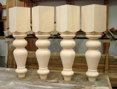 Choose any style of table leg and make a coffee table leg.  Here is Simcoe pattern.