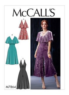 32bf98366da Sewing Pattern for Womens  Dresses and Jumpsuits in Misses Sizes   Misses  Petite