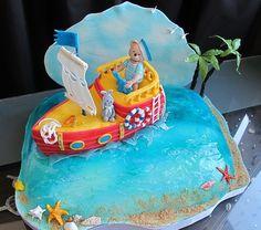 """Торт для мальчика """"Кораблик"""""""