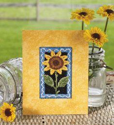 Summer SunflowerPunchneedle DIY ... http://createanddecorate.wordpress.com/2012/05/14/summer-sunflower-punchneedle/#