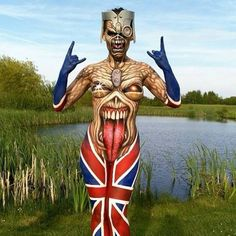 with ・・・ Iron Maiden tribute Bodypainting at Paintopia 2015 Iron Maiden 666, Eddie Iron Maiden, Rock And Roll, See Tattoo, Maquillage Halloween, Woman Painting, Nice Body, Rock Art, Face And Body