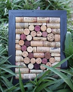 Monogrammed cork boards. could also be used for hot plates and such!