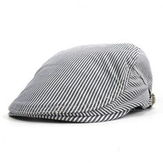 New 2017 Cotton Newsboy Cap Men Women Spring Summer Boinas Masculina Gorras  Planas Flat Caps Striped c8c8024888a