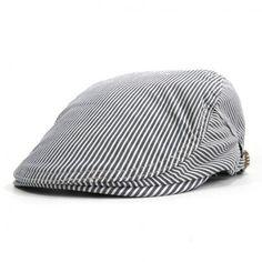 New 2017 Cotton Newsboy Cap Men Women Spring Summer Boinas Masculina Gorras  Planas Flat Caps Striped b4ec5aedad7