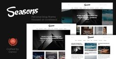 Seasons  A Multi-Concept Blog Theme //  Seasons  a premium WordPress theme developed specifically for magazine and streamlined blog websites; coded with site performance in mind. You can earn money via multiple dynamic ad sections  // #WordPress #themes