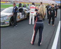 Miss Sprint Cup and Dale Earnhardt Jr. @ charlotte waiting to qualify 5-23-13