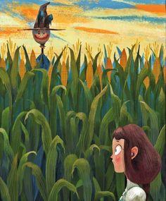 çizgili masallar: The Wonderful Wizard of Oz by Júlia Sardà Graphic Design Illustration, Illustration Art, Wizard Of Oz Characters, 2d Art, Art Inspo, Illustrators, Fairy Tales, Character Design, Sketches