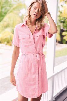 Linen Rich Shirt Dress (172974) | £26